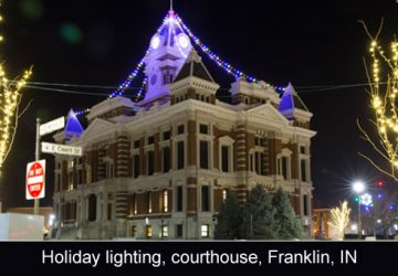 Holiday lighting of the courthouse and surrounding grounds in Franklin