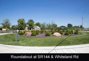 Roundabout located at SR 144 and Whiteland Road in Bargersville