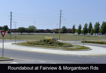 Roundabout located at Fairview Road and Morgantown Road in Greenwood